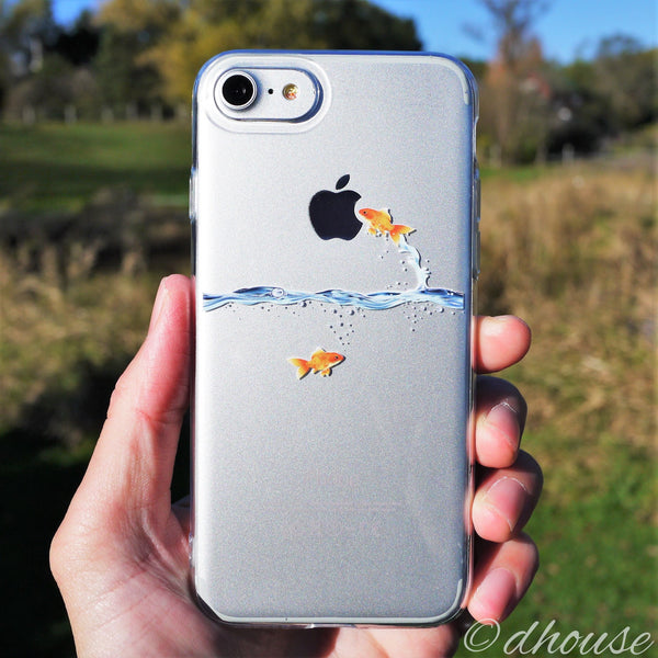 MADE IN JAPAN Soft Clear Case - Goldfish for iPhone 7 - Dhouse USA - 2