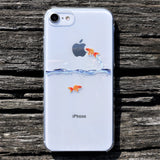 Cute Clear iPhone Case Goldfish design Made in Japan by DHOUSE