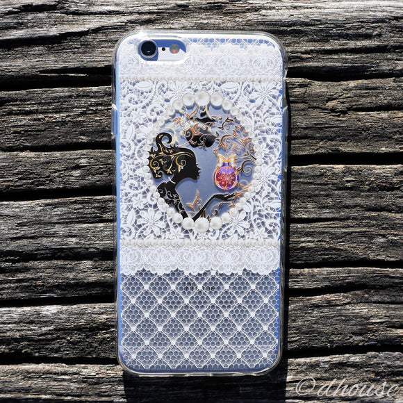 MADE IN JAPAN Soft Clear iPhone Case - Fairy White Lace - Dhouse USA - 1