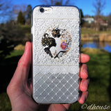 MADE IN JAPAN Soft Clear iPhone Case - Fairy White Lace - Dhouse USA - 4