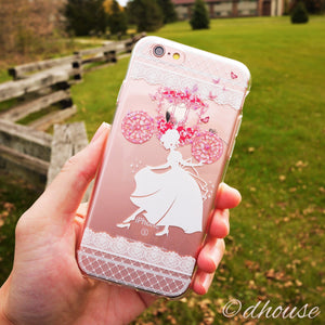Cute Soft Clear iPhone Case - Cinderella Slipper Made in Japan by DHOUSE