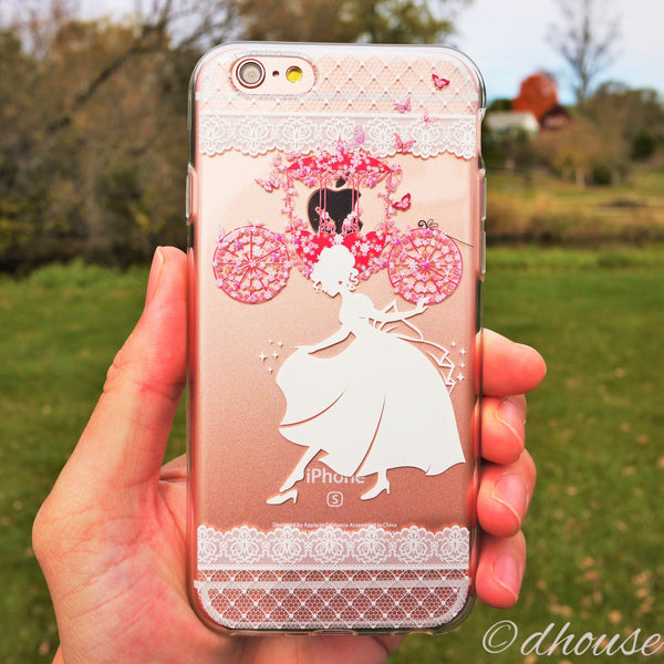 MADE IN JAPAN Soft Clear Case for iPhone 6/6s - Cinderella Slipper - Dhouse USA - 2