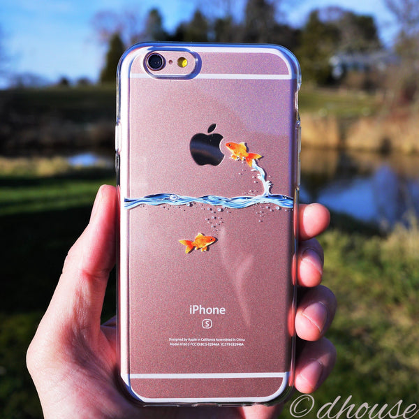 MADE IN JAPAN Soft Clear Case - Goldfish for iPhone 6/6s Plus - Dhouse USA - 1