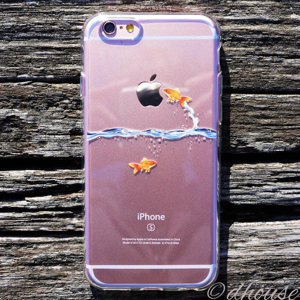 MADE IN JAPAN Soft Clear Case - Goldfish for iPhone 6/6s Plus - Dhouse USA - 3