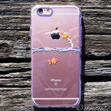 Cute Soft Clear iPhone Case Goldfish Made in Japan by DHOUSE USA