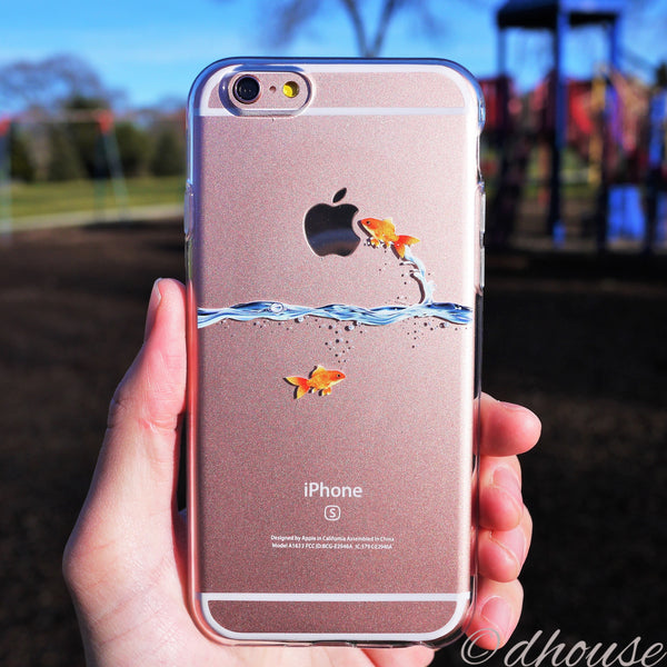 MADE IN JAPAN Soft Clear Case - Goldfish for iPhone 6/6s Plus - Dhouse USA - 4