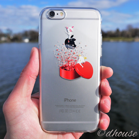 MADE IN JAPAN Soft Clear iPhone Case - Heart Angel - Dhouse USA - 1