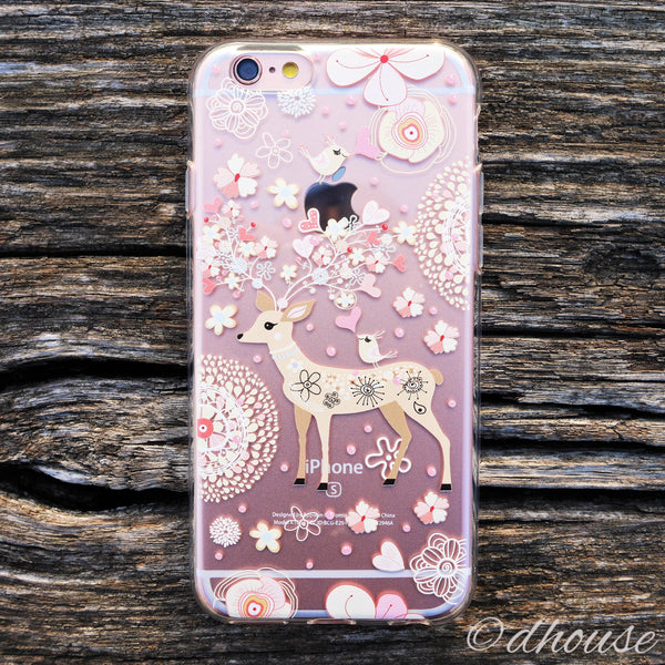 MADE IN JAPAN Soft Clear Case - Little Cute Deer for iPhone 6/6s - Dhouse USA - 1