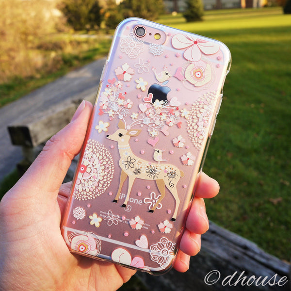 MADE IN JAPAN Soft Clear Case - Little Cute Deer for iPhone 6/6s - Dhouse USA - 3