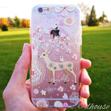 Cute Soft Clear iPhone Case - Bambi Deer Made in Japan by DHOUSE