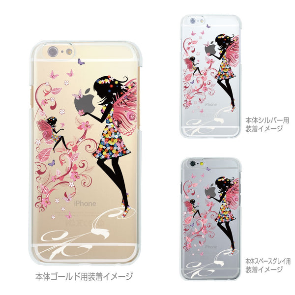 MADE IN JAPAN Soft Clear iPhone 6/6s Case - Fairy Angel Flowers - Dhouse USA - 2