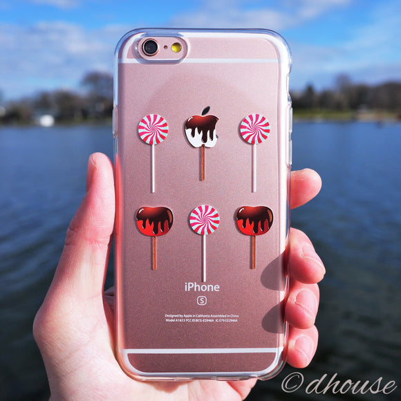 MADE IN JAPAN Soft Clear iPhone 6/6s Case - Lollipop Apple Candy - Dhouse USA - 1
