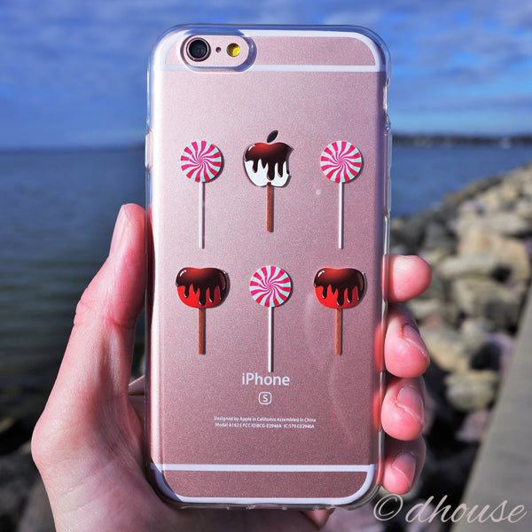 MADE IN JAPAN Soft Clear iPhone 6/6s Case - Lollipop Apple Candy - Dhouse USA - 3