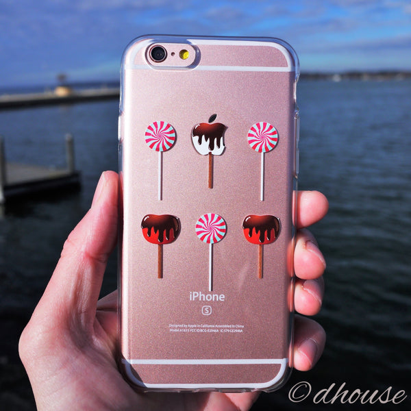 MADE IN JAPAN Soft Clear iPhone 6/6s Case - Lollipop Apple Candy - Dhouse USA - 4