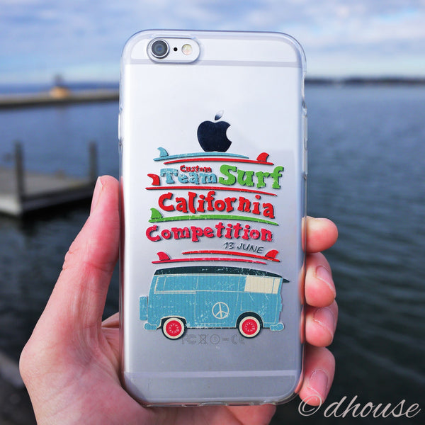MADE IN JAPAN Soft Clear iPhone 6/6s Case - California Surfer - Dhouse USA - 3