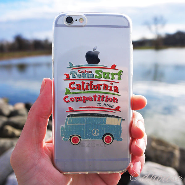 MADE IN JAPAN Soft Clear iPhone 6/6s Case - California Surfer - Dhouse USA - 4