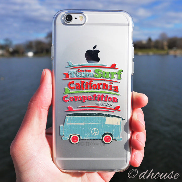 MADE IN JAPAN Soft Clear iPhone Case - California Surfer by DHOUSE