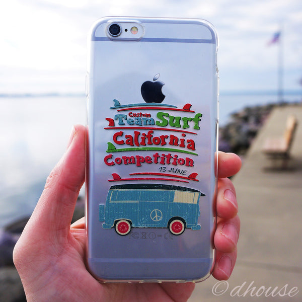 MADE IN JAPAN Soft Clear iPhone 6/6s Case - California Surfer - Dhouse USA - 5