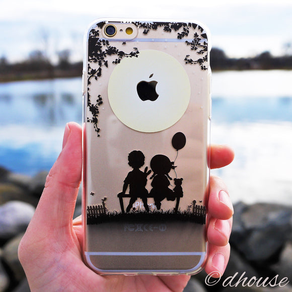MADE IN JAPAN Soft Clear iPhone 6/6s Case - Little Couple Moonlight - Dhouse USA - 1