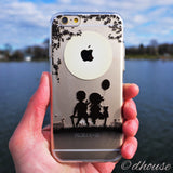 MADE IN JAPAN Soft Clear iPhone 6/6s Case - Little Couple Moonlight - Dhouse USA - 3