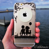 MADE IN JAPAN Soft Clear iPhone 6/6s Case - Little Couple Moonlight - Dhouse USA - 4