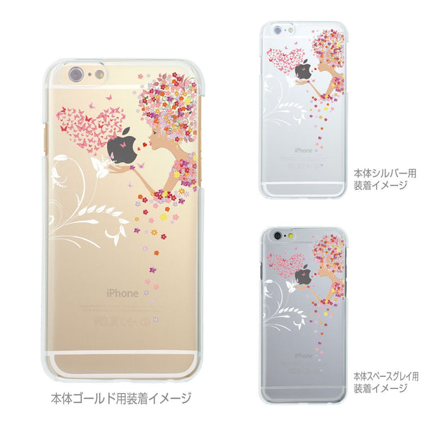 MADE IN JAPAN Soft Clear iPhone 6/6s Case - Flowers Girl Heart Butterfly - Dhouse USA - 2