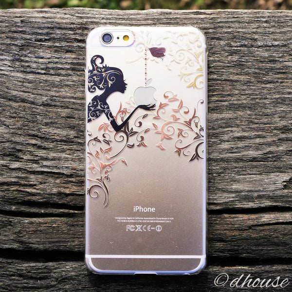 MADE IN JAPAN Hard Shell Clear iPhone Case - Autumn Fairy - Dhouse USA - 1