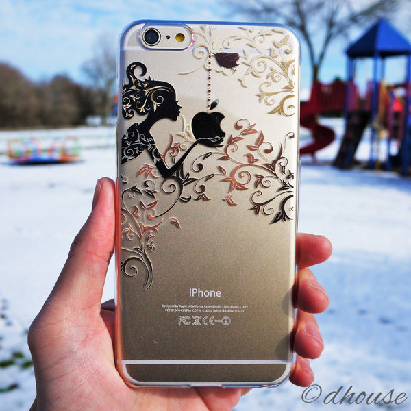 MADE IN JAPAN Hard Shell Clear iPhone Case - Autumn Fairy - Dhouse USA - 4