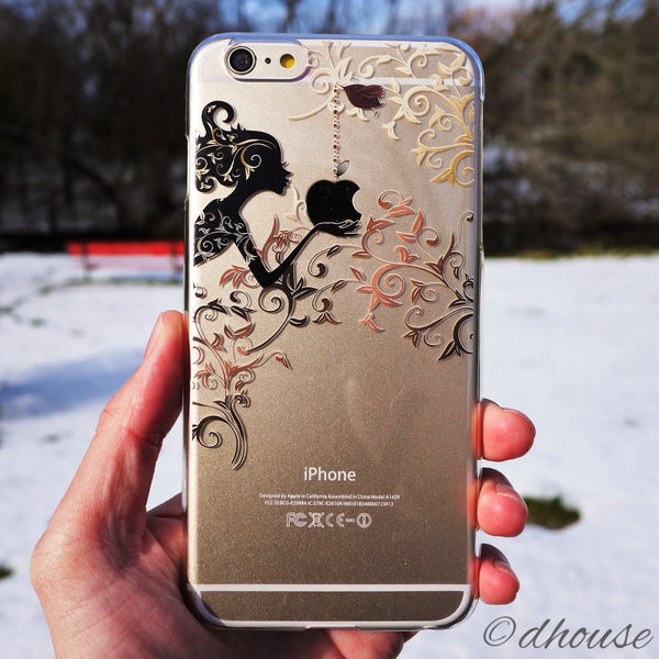 MADE IN JAPAN Hard Shell Clear iPhone Case - Autumn Fairy - Dhouse USA - 5