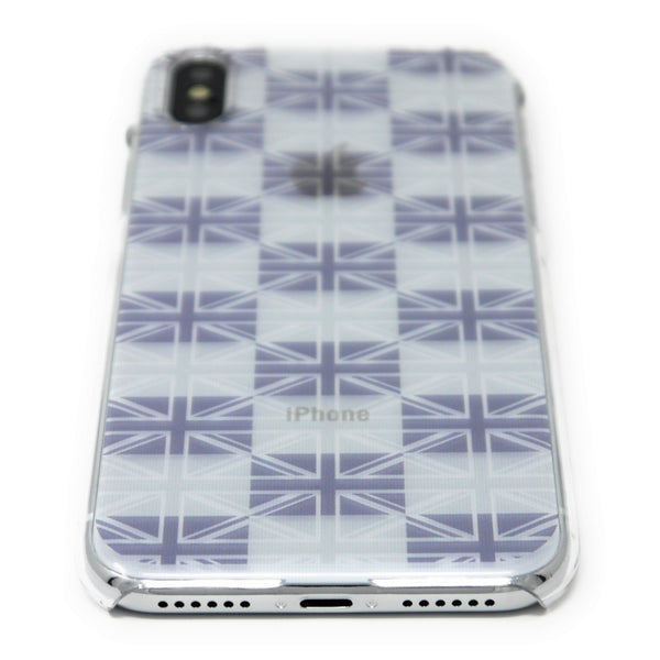 MADE IN JAPAN Hard Shell Clear Case for iPhone X - Flag of UK Union Jack