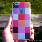 MADE IN JAPAN Soft Clear iPhone 6/6s Case - Plaid Matrix - Dhouse USA - 1