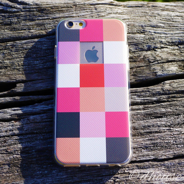 MADE IN JAPAN Soft Clear iPhone 6/6s Case - Plaid Matrix - Dhouse USA - 3