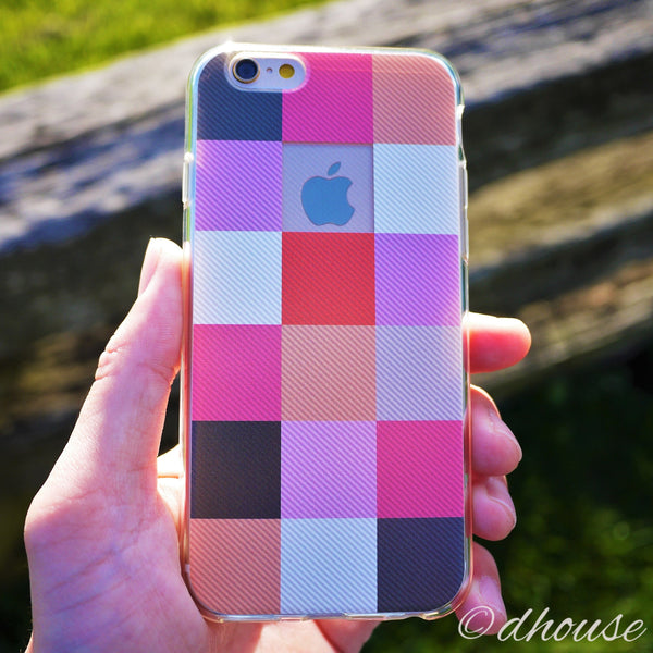 MADE IN JAPAN Soft Clear iPhone 6/6s Case - Plaid Matrix - Dhouse USA - 4