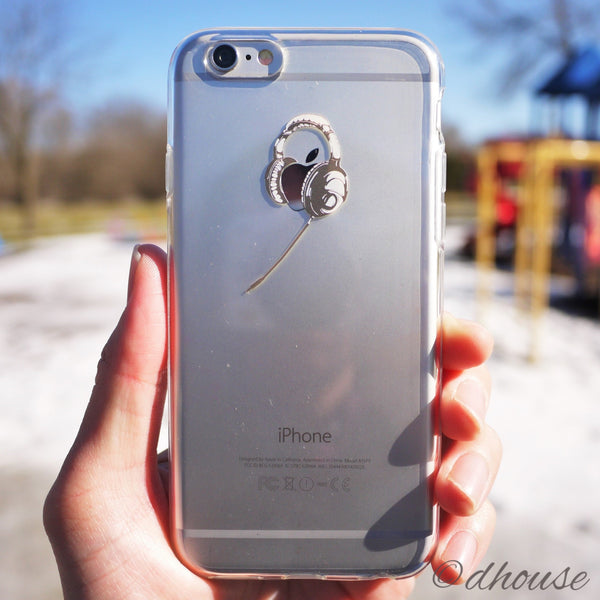 MADE IN JAPAN Soft Clear iPhone 6/6s Case - Headphone - Dhouse USA - 3