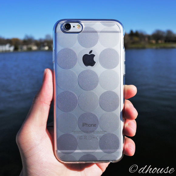 MADE IN JAPAN Soft Clear iPhone 6/6s Case - Circle pattern - Dhouse USA - 1