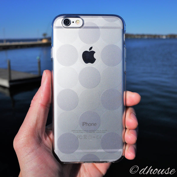 MADE IN JAPAN Soft Clear iPhone 6/6s Case - Circle pattern - Dhouse USA - 3