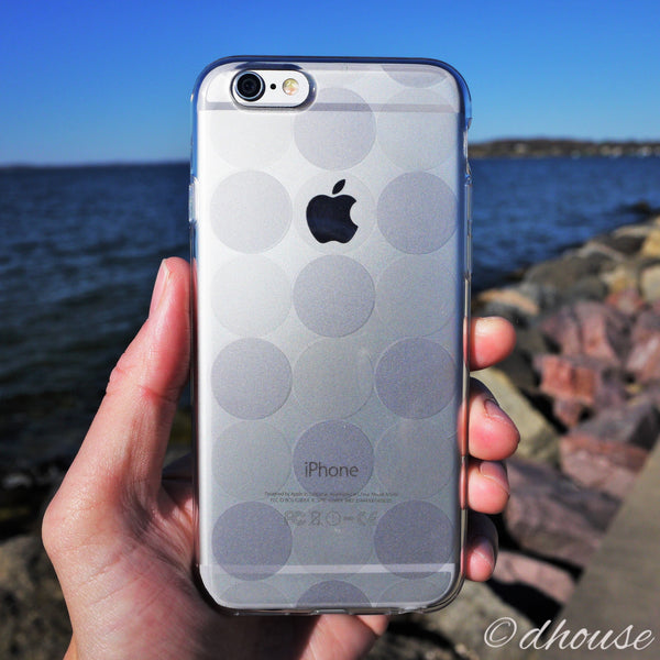 MADE IN JAPAN Soft Clear iPhone 6/6s Case - Circle pattern - Dhouse USA - 4
