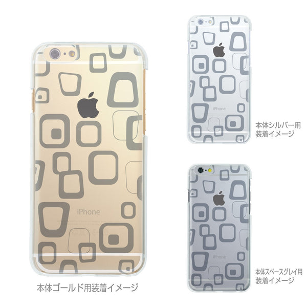 MADE IN JAPAN Soft Clear iPhone 6/6s Case - Rough Box Pattern - Dhouse USA - 2