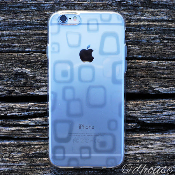 MADE IN JAPAN Soft Clear iPhone 6/6s Case - Rough Box Pattern - Dhouse USA - 3