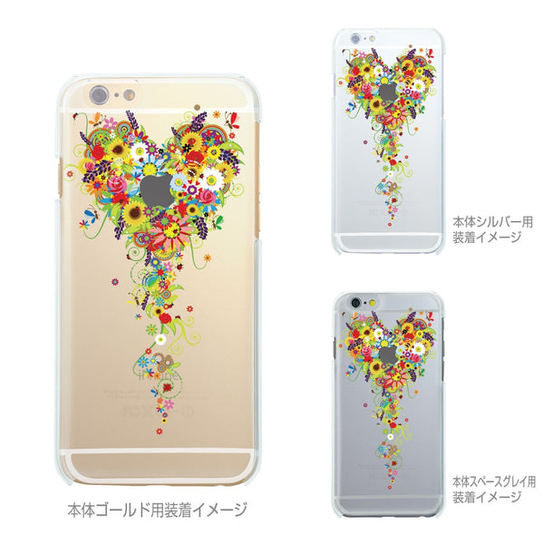 MADE IN JAPAN Soft Clear iPhone Case - Bouquet Flowers Heart - Dhouse USA - 2