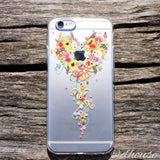 MADE IN JAPAN Soft Clear iPhone Case - Bouquet Flowers Heart - Dhouse USA - 3