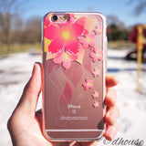 MADE IN JAPAN Soft Clear iPhone 6/6s Case - Retro Flowers Red - Dhouse USA - 1