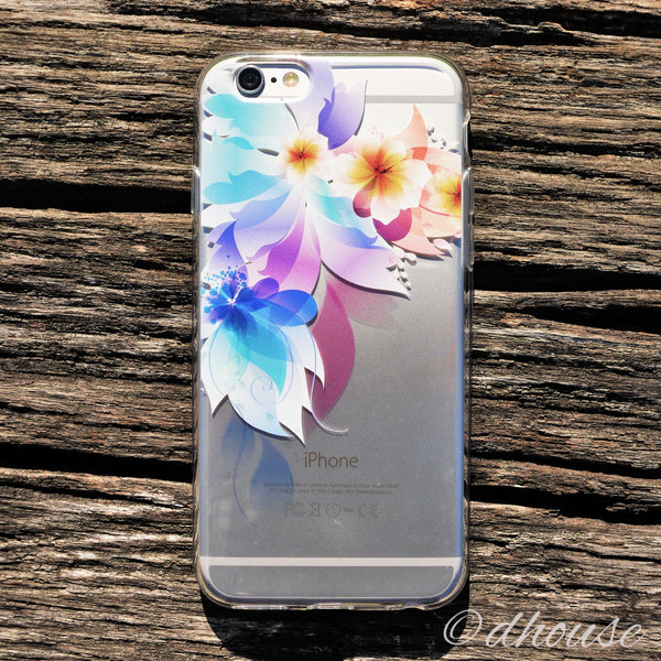 MADE IN JAPAN Soft Clear iPhone 6/6s Case - Retro flowers - Dhouse USA - 1