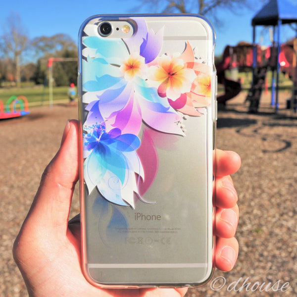 MADE IN JAPAN Soft Clear iPhone 6/6s Case - Retro flowers - Dhouse USA - 4