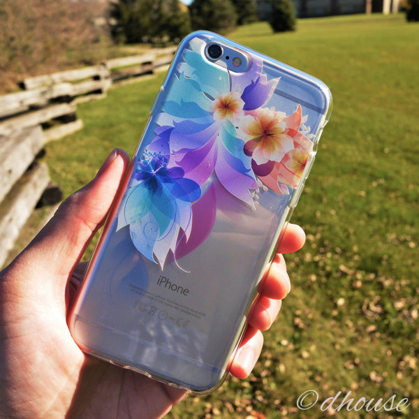 MADE IN JAPAN Soft Clear iPhone 6/6s Case - Retro flowers - Dhouse USA - 3