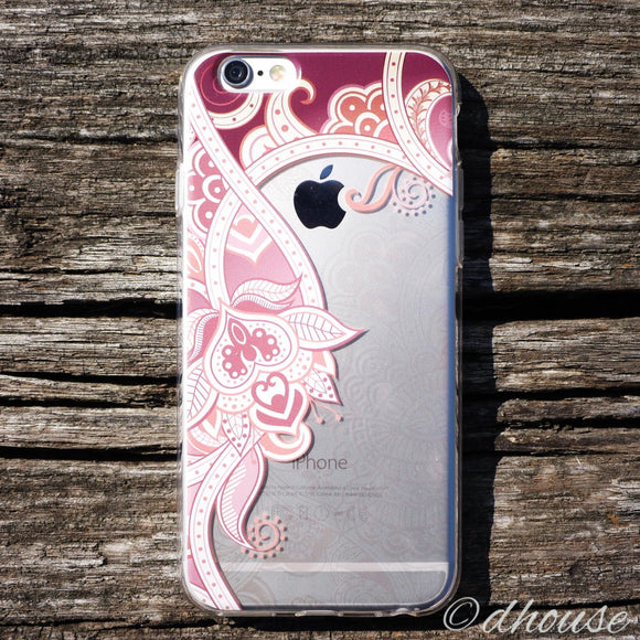 MADE IN JAPAN Soft Clear iPhone Case - Retro Flower Rose - Dhouse USA - 1