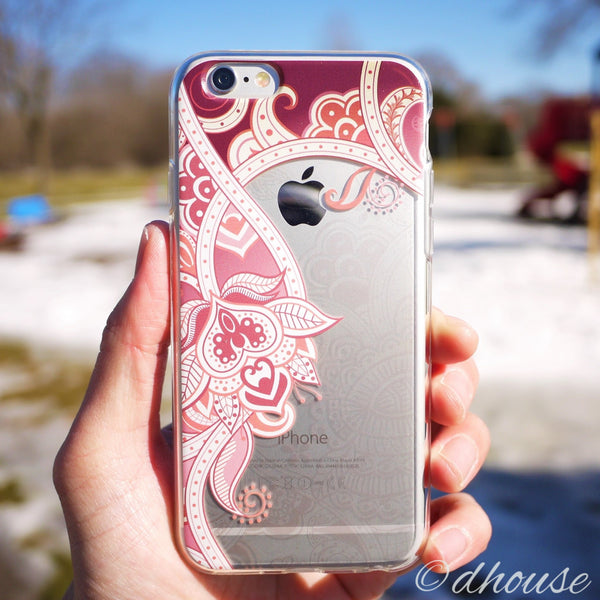 MADE IN JAPAN Soft Clear iPhone Case - Retro Flower Rose - Dhouse USA - 3