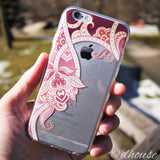 MADE IN JAPAN Soft Clear iPhone Case - Retro Flower Rose - Dhouse USA - 4