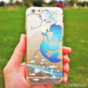 MADE IN JAPAN Soft Clear Case for iPhone 6/6s - Mermaid Blue - Dhouse USA - 1