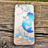 MADE IN JAPAN Soft Clear Case for iPhone 6/6s - Mermaid Blue - Dhouse USA - 3